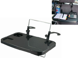 Wholesale Standing Laptop Tray - NEW Car Laptop Holder Tray Bag Mounts Back Seat Auto Table Food Stands Work Desk