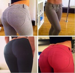 Wholesale Button Lifts - New Arrival Women's Sexy Lift The Hips Pencil Skinny Pants Trousers Stretch Leggings Fitness Yoga Pants