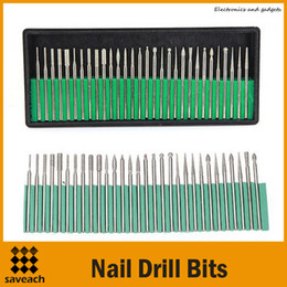 Wholesale Hand For Nail Art Professional - Wholesale - 30pcs set Nail Drill Bits for Electric Nail Drill Manicure Drilling Machine Nail Art Hand Handpiece Professional Manicure Drills