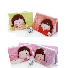 Wholesale banking book - Wholesale-Hot biscuits girl cute Niuzai card pack holder 12 -bit card book card bank card sets