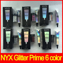 Wholesale Cream Color Eyeshadow - Hot NYX Glitter Primer Cream Concealer Cream NYX Glitter Face and Body Shimmer Powder 6 color Eyeshadow Powder