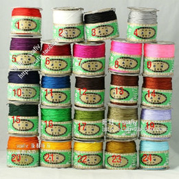 Wholesale Nylon Shamballa - Wholesales High Quality 150meter Roll 1.5mm thickness Shamballa cord Nylon Chinese Knotting Cord Mix colors