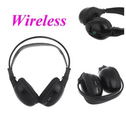 Wholesale Wireless Headphones Ir - Hot Sale Infrared Stereo Double-channel Headset Wireless Headphone With IR Transmitter and Used for Car DVD Player Foldable Desi