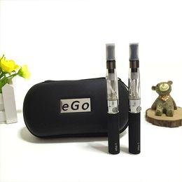 Wholesale Ego Vapes - Double kit ego CE4 starter kits vape pen e cigarette 510 ego-t battery CE4 atomizer zipper case vapoirzer vapes for e liquid