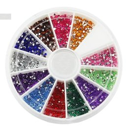 Wholesale Nails Flash - Wholesale- ONE box New 12 Colors Fashion Nail Decoration Hollow sequins Super bright flash Rhinestone Nail Powder For Nail Art Tips M543