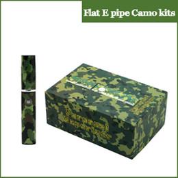 Wholesale Cigar Pen Kits - 2015 Flat E cigar Epipe camo vaporizer pen 360mAh snoop dogg battery wax vaporizer kit wax burner electronic cigarette kit