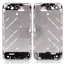 Wholesale Iphone 4s Middle Full Assembly - 100% Original New Full Parts Middle Frame Chassis Bezel For iPhone 4S Midframe Housing Assembly Case