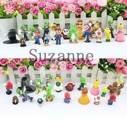 Wholesale Mario Bros Resins - High Quality PVC Super Mario Bros Luigi Action Figures 18pcs set youshi mario Gift OPP retail