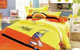 Wholesale Cotton Sheets For Kids Cartoons - Naruto bedding kids duvet covers twin bed set for children twin bedding children's beds bedding set for children kids sheet sets