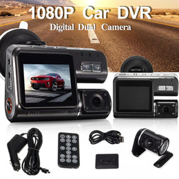 "Wholesale Dual Display Lcd - Dual Lens Car DVR Camera I1000 Full HD 1080P 2.0""LCD Dash Cam+8 IR LED Light Night Vision H.264 Rotatable Lens Video Recorder"