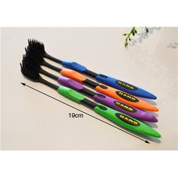 Wholesale Adult Tooth Brush - 4pcs lot Bamboo Charcoal Toothbrush Odontologia Wholesale Free Shipping Bamboo Tooth brush of Dental Care for Soft Brush
