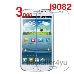 Wholesale Screen Guard Grand Duos - Wholesale-3pcs Anti-scratch CLEAR LCD i9082 Screen Protector Guard Cover Film For Samsung GALAXY Grand DUOS i9082 i9080 Protective Film