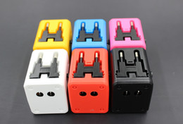 Wholesale Multi Purpose Sockets - Global Universal Travel Adapter Plug Multi-Purpose Socket High Quality Global Power Plug Adapter With USB Colors AC UK EU US AU 20UP