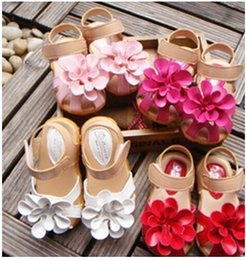 Wholesale Green Flower Girl Shoes - 2016 new summer children girl Sandal princess Flower fashion kids Sandal shoes