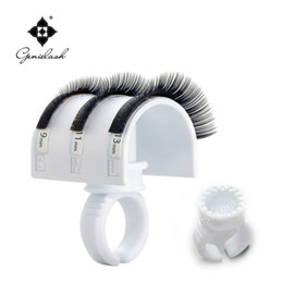 Free Shipping new 2 U-band lash holder with 5 smart rings eyelash extension tool Deals