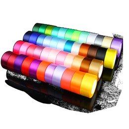 Wholesale Gift Satin Ribbon - 20 colors Solid Color Satin Ribbon for christmas decorations and gift packet wrapping 4cm 22m one rolls Boutique Ribbons
