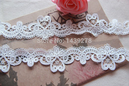 Wholesale White Lace Flower Appliques Wholesale - Lace White Venise Lace Trim, Flower Trim, Embroidered Floral Lace , Applique Lace, Bridal Supply - 10 yards Lot - Free Shipping