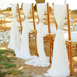 "Wholesale Chiffon Material Wholesale - 1 Yard Chiffon Dress Fabric Custom Length 59"" Width 75D Chiffon Chair Sash Material Table Covers Fabric Wedding Decoration Turquoise"