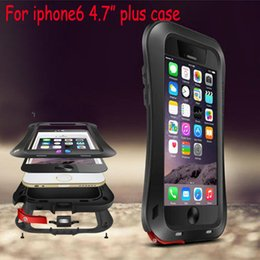 Wholesale Iphone Gorilla Glass Cases - LOVE MEI Small Waist Waterproof Rugged Tempered Gorilla Glass Aluminum Metal Cases For iPhone 6 Plus iPhone6 4.7 5.5 inch 5s