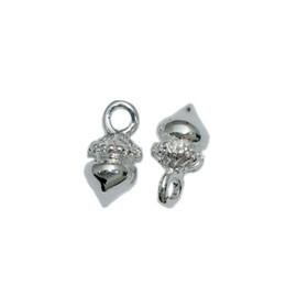 Beadsnice натуральный шарм подвеска в виде желудя, симпатичный кулон в посеребренном цвете, ювелирные изделия оптом, никель без свинца, ID 25085 от