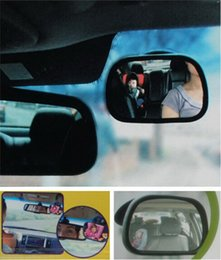Wholesale Child Car Mirror - Security mirror the baby car seat car rearview mirror children who have auxiliary reflective mirror mirror clip sucker