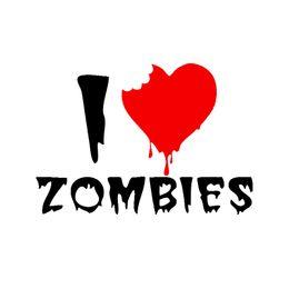 Wholesale Walking Dead Vinyl - I Heart Zombies Sticker Love Walking Dead Car Stickers Vinyl Decals