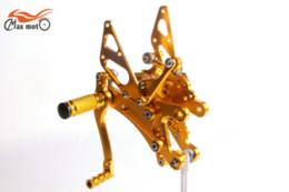 Wholesale Yamaha R1 Footpegs - KELI FUXING Racing CNC Adjustable Rearsets Rear set footpegs For Yamaha YZF R1 1999 2000 2001  R1000 Golden M53723