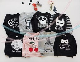Wholesale Long Sleeves Panda Outwear - Baby Clothes 2016 New Spring Baby Tops Cotton Long Sleeve Coat I love You To The Moon And Back Panda Outwear 5