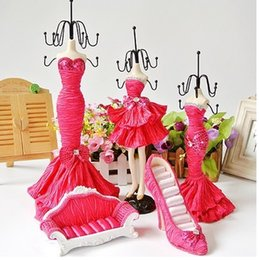 Wholesale Shoe Mannequins - Wholesale-Mannequin set Doll Ring shoe sofa hold Jewelry Display Stand