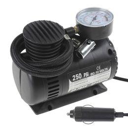 Wholesale Air Compressor Electric - Portable Electric 90W Car Tyre Air Compressor 12V 250PSI with 3 Pneumatic Nozzle