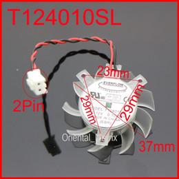 2019 gigabyte großhandel Großhandels-EVERFLOW T124010SL 37mm 23x29x29mm 12V 0.10A 2Pin für Gigabyte GT210 Grafikkarte Kühler Lüfter rabatt gigabyte großhandel