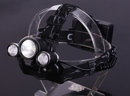 Wholesale Cree Headlamp Car Charger - Linterna Cabeza CREE XML T6 2R5 4 Mode led headlight headlamp 5000 Lumens With AC&Car Charger 2*18650 6000mAh 3.7V Battery