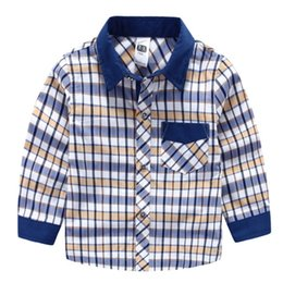 Wholesale Kids Clothes High Quality Boys - High quality 2016 Children clothing middle boy shirts 100-150 classic weave plaid shirt for boy kids clothing boys clothes