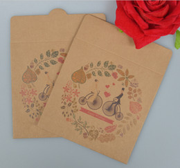 Wholesale Paper Envelope Sleeves - Wholesale- Joy wedding recording favor bag, paper cd cover , kraft paper cd sleeves , envelope cd kraft