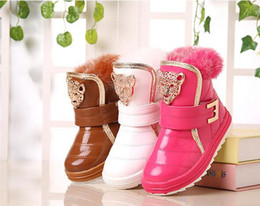 Wholesale Boys Size 11 Snow Boots - Free shipping winter Children's snow boots kids boots Children boots 2 color size 27-32 JIA628