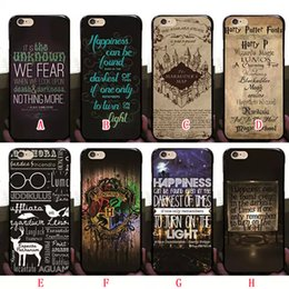 Wholesale Hard Plastic Shell Case - Harry Potter Marauders Hard PC Case for iphone 7 7p 6 6S Plus 5 5S Hogwarts Map Words Plastic Back Cover Skin Shell 2016 Fashion Hot Arrival