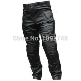 Wholesale Motorcycle Detailing - FG1509 Top selling high quality Details about New Men's Motorcycle Leather Long Pants Suit Sport Pants Compatible