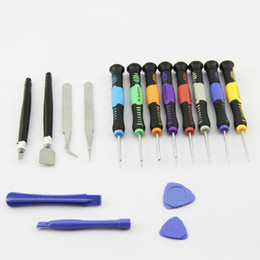 Wholesale Pry Set - 16 in 1 Opening Pry Tools Disassembly phone Repair Kit Versatile Screwdriver Set For iPhone 4 5 6 HTC Samsung Nokia smartphone