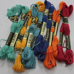 Wholesale Embroidery Stitching Tool - 8.7 Yard Embroidery Thread Cross Stitch Thread Floss CXC Similar DMC 447 colors a Lots Free shipping