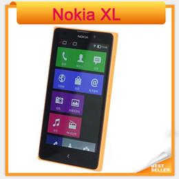 Celulares pantalla lcd online-Desbloqueado original Nokia XL 1030 Dual SIM Celulares 5 pulgadas 768MB Pantalla LCD 5.0MP Cámara 3G WCDMA Nokia 1030