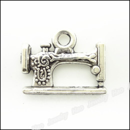 Wholesale Sewing Charms Wholesale - 35 pcs Vintage Charms Sewing machines Pendant Antique silver Fit Bracelets Necklace DIY Metal Jewelry Making