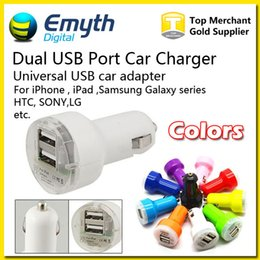 Wholesale Nipple Adapter - For Iphone Charger Mini Micro Dual USB Car Charger Adapter Flash Pacifier Nipple Dual USB Port For iPhone 6 5 S6 note4 Ipad Samsung HTC