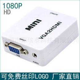 Wholesale Vga Direct - VGA HDMI 1080P VGA TO HDMI support VGA to HDMI HD Converter factory direct sales