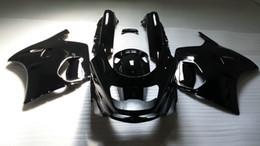 Carenados de ninja 93 online-Set de carenados para KAWASAKI Ninja ZZR1100 93 94 99 00 01 ZX11 1993 2001 ZZR1100D 93-01 Todo el kit de carenado negro brillante + 7gifts ZD48