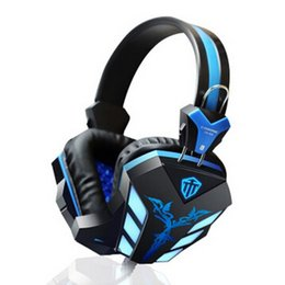 Wholesale Usb Pc Headset - Gaming Headset with Microphone Noise Canceling Cosonic computer USB 3.5mm aux connetcor LED Light headphone for PC Gamer