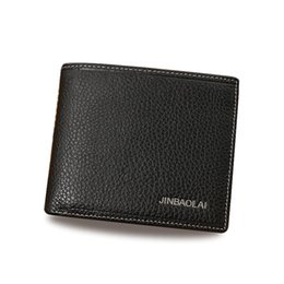 Wholesale Interior Design Simple - Top Brand New Simple Casual Business Retro Men's Leather Wallet High-quality Design Card Holder Short Wallet Credit Card Men's Wallet