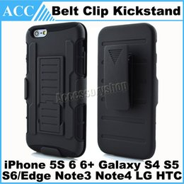 Wholesale Galaxy S4 Cases Belt Clip - 3in1 TPU+PC Heavy Duty Armor Robot Belt Clip Holster Stand Case for iPhone 5S 6 6+ Galaxy S4 S5 S6 Edge Note3 Note4 Kickstand Case 100pcs