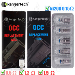 Wholesale Kangertech Replacement Coils - 100%Original Kanger OCC Replacement Coil upgraded Ni200 0.15ohm sub ohm Kangertech Subtank Clearomizer Vertical dual Coils atomizer core DHL