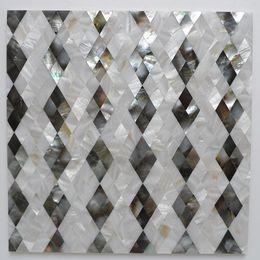 Argentina Mather Pearl concha de concha de color natural patrón en forma de diamante baño baño azulejo cocina backsplash azulejo # MS014 Suministro