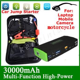Wholesale start phone - Car Jump Starter 30000mAh Multi-Function Mini Portable Start 12V Car Engine Emergency Battery Power Bank Car phone Battery Fast Charge